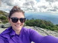 Bri hiking in Vermont