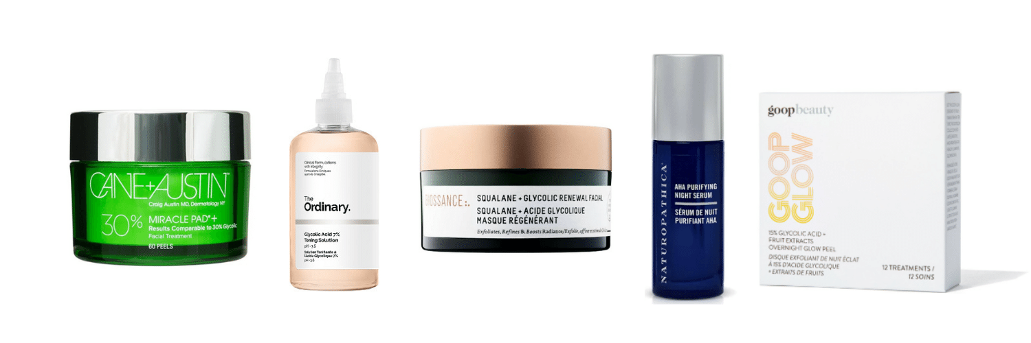Chemical Excoliation skincare products