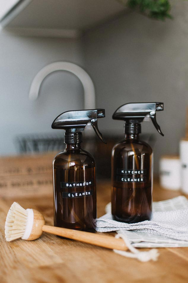 DIY bathroom and kitchen cleaners