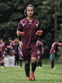 Ganesh playing soccer