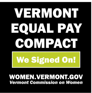 We Signed - Vermont Equal Pay Compact