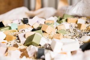 bar soap waste pieces rework