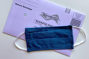 ballot and mask
