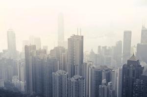 city in smog