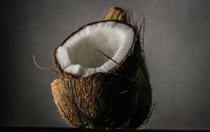 coconut in half