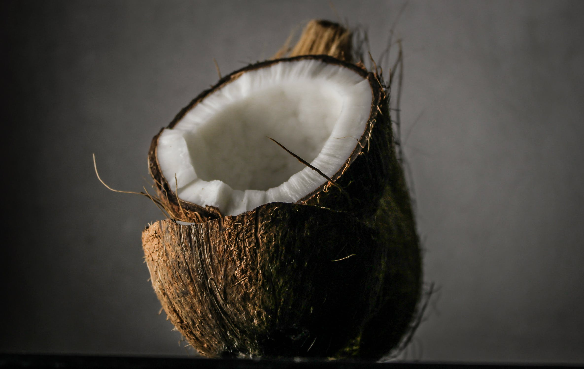 coconut in half
