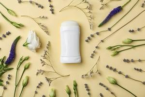 deodorant and flower flatlay - adobe download