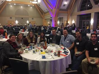 Twincraft Skincare employees at Spectrum's 2018 Empty Bowl dinner