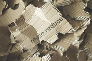 reduce reuse recycle cardboard