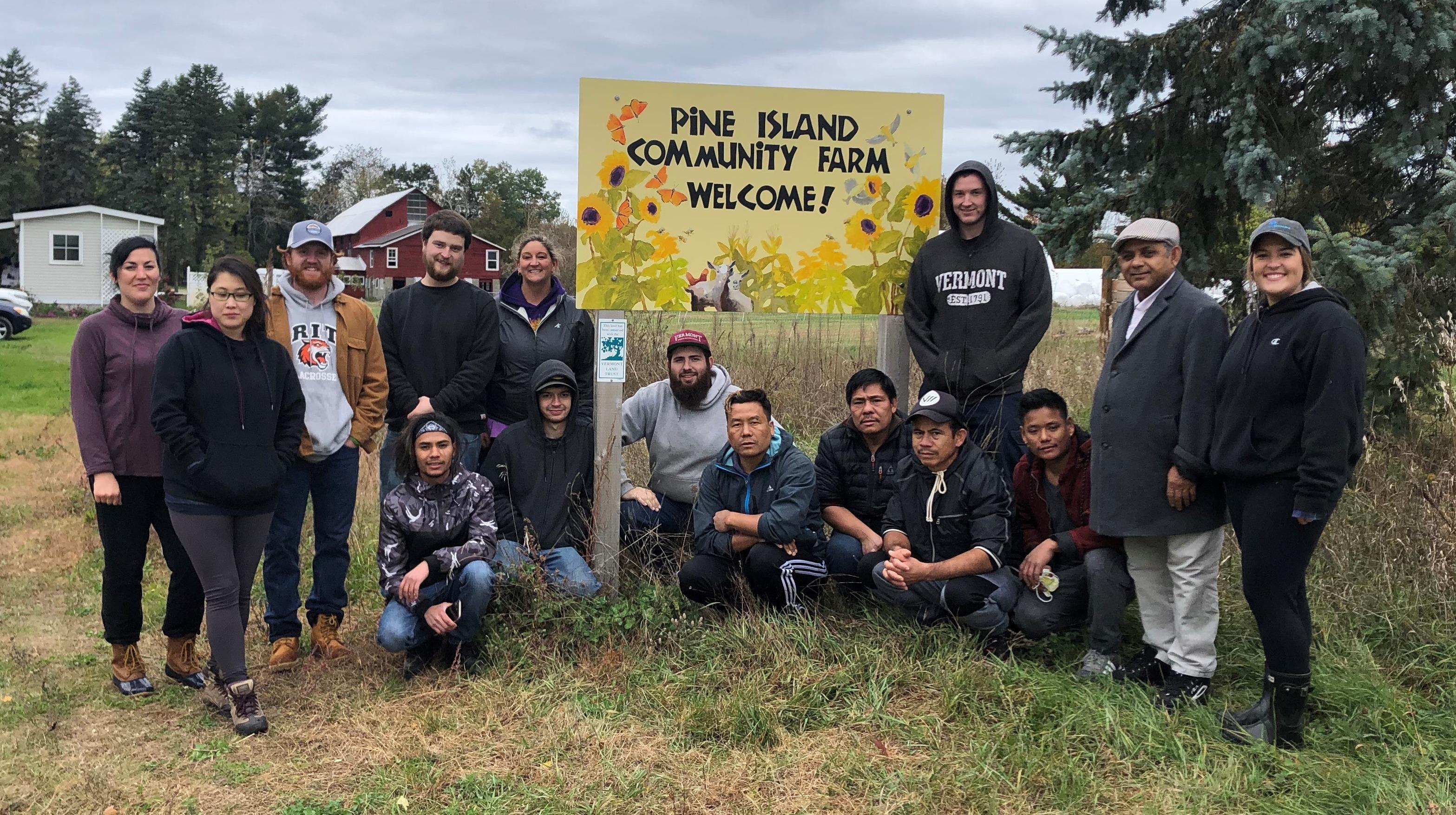 Twincraft Volunteer Day at Pine Island Farm